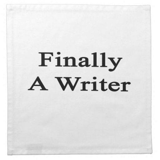 Finalmente un escritor servilletas