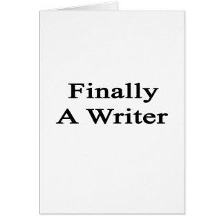 Finalmente un escritor tarjetas