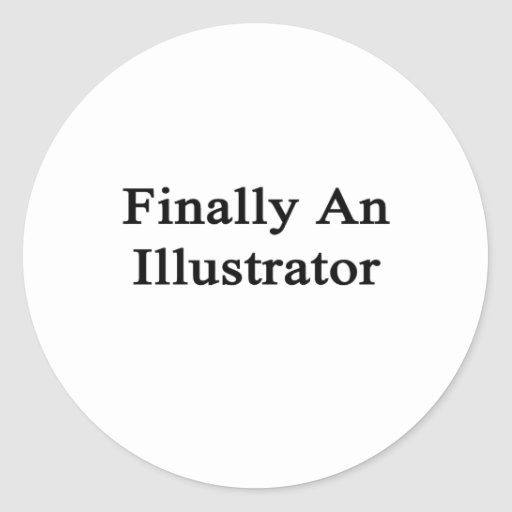 Finalmente un ilustrador pegatina redonda