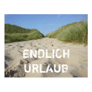FINALMENTE VACACIÓN ruta a la playa por Strandhafe Postal