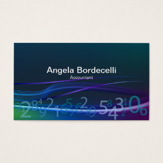Finance Administration Professional FlowingNumbers Business Card