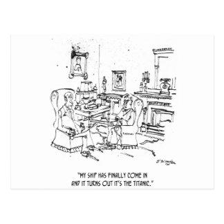 Finance Cartoon 9229 Postcard