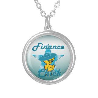 Finance Chick #7 Round Pendant Necklace