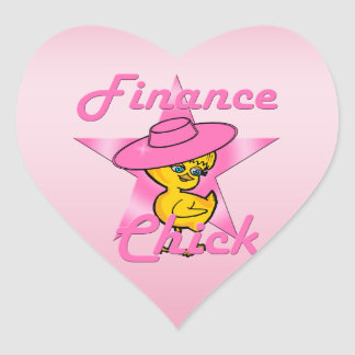 Finance Chick #8 Heart Sticker