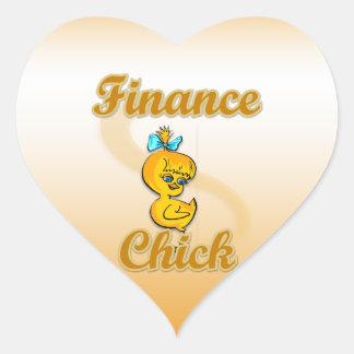 Finance Chick Heart Sticker