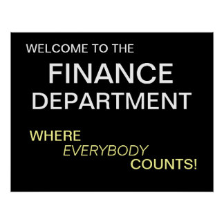 Finance Department Motivational Poster