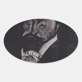 Finance Minister V.N. Kokovtsoff by Boris Kustodie Oval Sticker