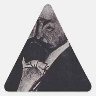 Finance Minister V.N. Kokovtsoff by Boris Kustodie Triangle Sticker