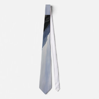 Finance Themed, A Series Of Mountains On The Bank Tie