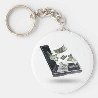 Finances Basic Round Button Keychain