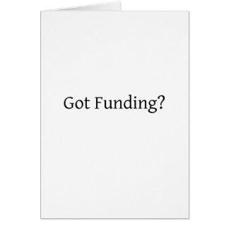 ¿Financiación conseguida? Tarjetón