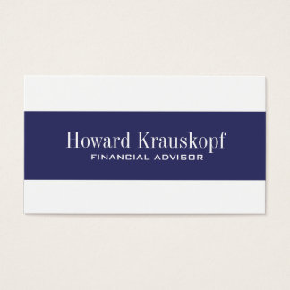 Financial Advisor Business Cards