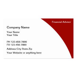 Financial Advisor Business Cards