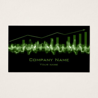 Financial Advisor Green Line Graph Black Card