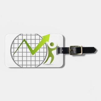 Financial Advisor Icon Bag Tag