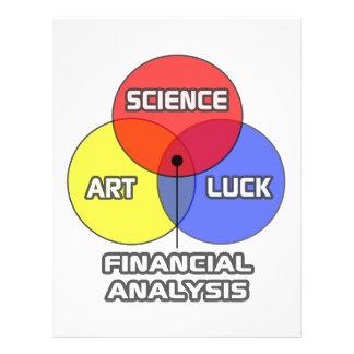 Financial Analysis .. Science Art Luck Letterhead
