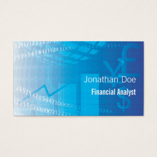 Financial Analyst Accountant Business Card