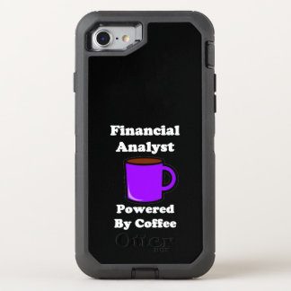 """Financial Analyst"" Powered by Coffee OtterBox Defender iPhone 8/7 Case"