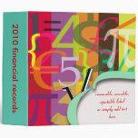 Financial binders, math binders Christmas Gift