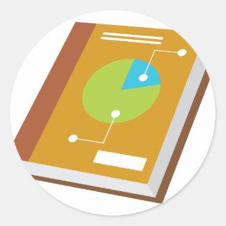 Financial Book Icon Classic Round Sticker