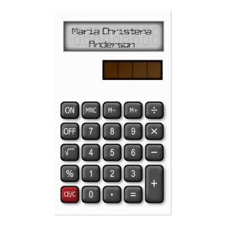 Financial Calculator Business Card (White)