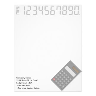 Financial Calculator  Letterhead (Black)