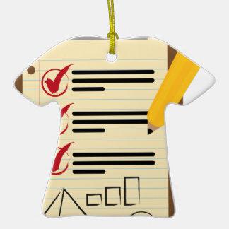 Financial Checklist Clipboard Pencil Ceramic T-Shirt Ornament