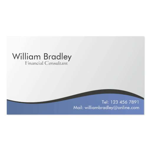 Financial Consultant - Business Cards