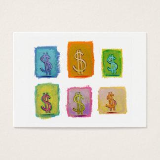Financial consultant sales money fun unique art business card