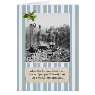 Financial Crisis Lost Our Home Christmas Card