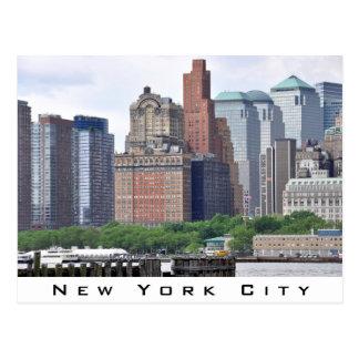 Financial District-Lower Manhattan Postcard