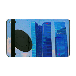 Financial district of Singapore with tall building iPad Case