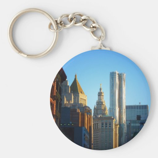 Financial District Skyline Cityscape Key Chains