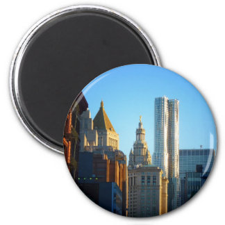 Financial District Skyline Cityscape Refrigerator Magnets