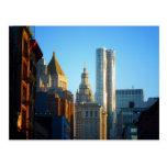 Financial District Skyline Cityscape Postcard