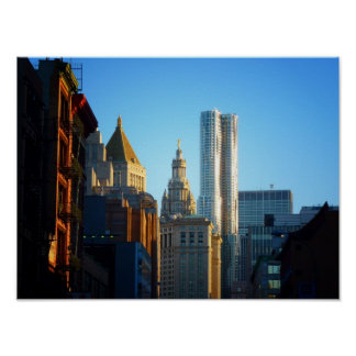 Financial District Skyline Cityscape, Small Print