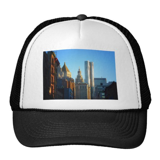 Financial District Skyline Cityscape Trucker Hat