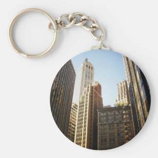 Financial District Skyscrapers, New York City Basic Round Button Keychain