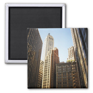 Financial District Skyscrapers, New York City 2 Inch Square Magnet
