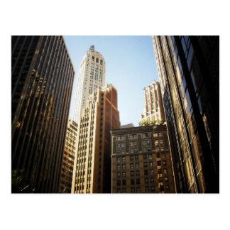 Financial District Skyscrapers, New York City Postcard