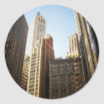 Financial District Skyscrapers, New York City Round Stickers