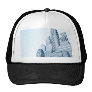 Financial district urban city scape mesh hats