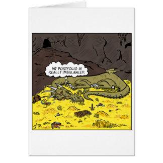 Financial dragon greeting card