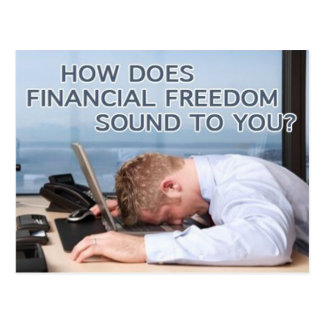 Financial freedom - Postcard