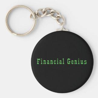 Financial Genius Basic Round Button Keychain