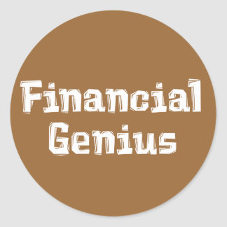 Financial Genius Gifts Classic Round Sticker