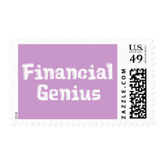 Financial Genius Gifts Stamp