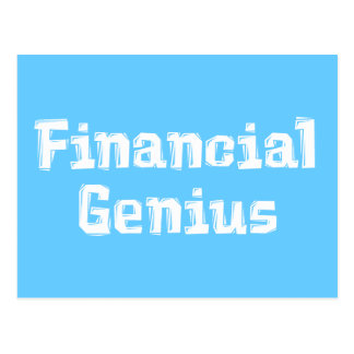 Financial Genius Gifts Post Cards