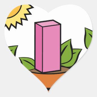 Financial Growth Plants Heart Sticker