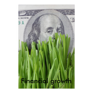 Financial growth poster